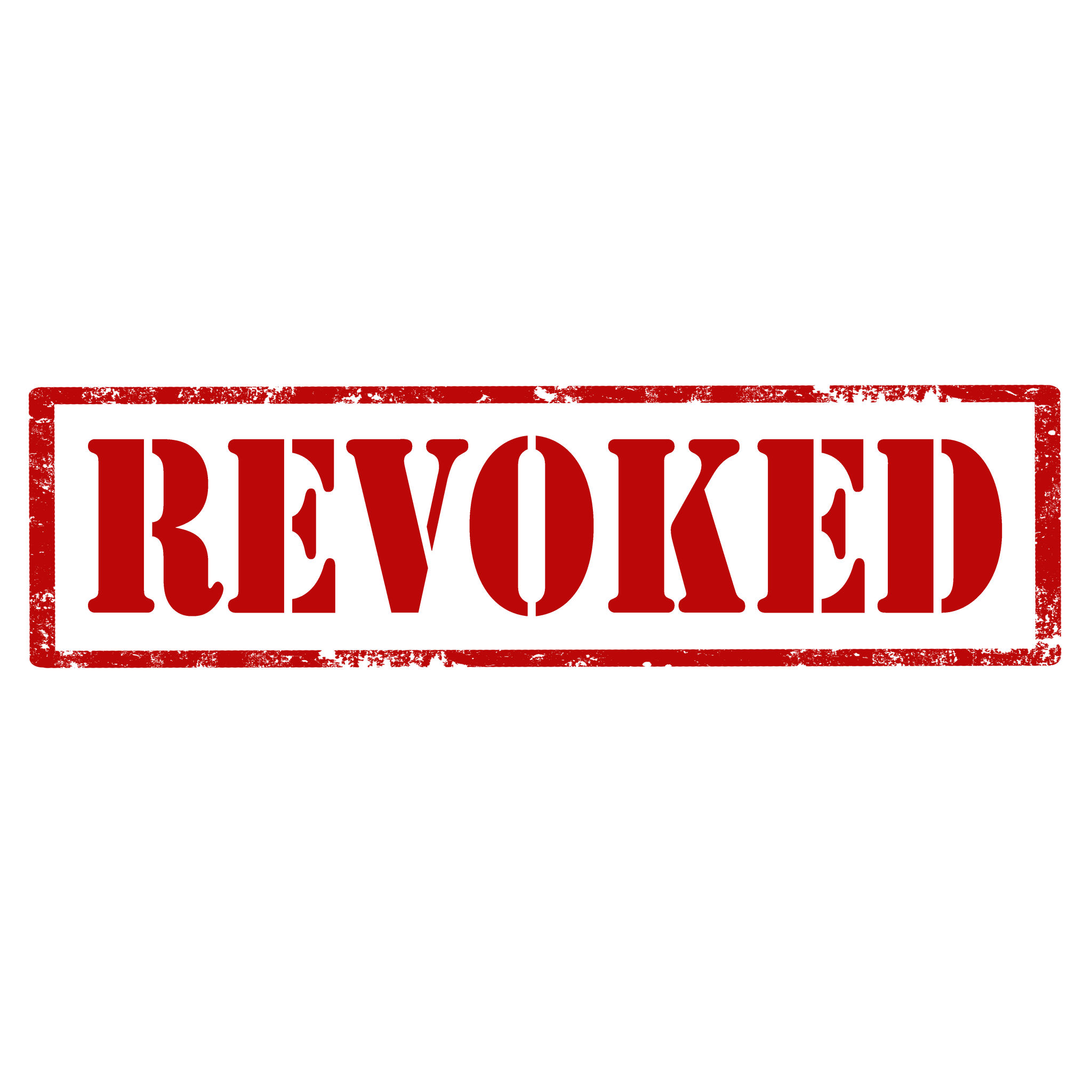 Grunge rubber stamp with text Revoked,vector illustration